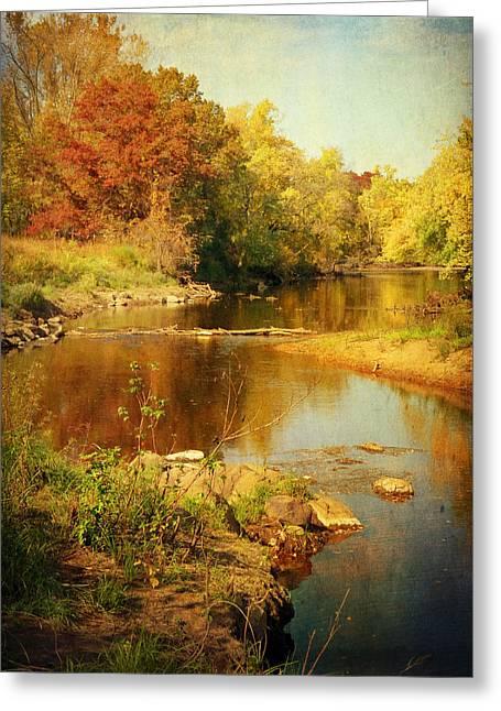 Lucinda Walter Greeting Cards - Fall Time at Rum River Greeting Card by Lucinda Walter