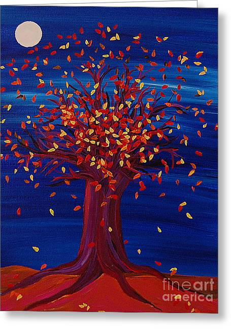 First Star Art Greeting Cards - Fall Tree Fantasy by jrr Greeting Card by First Star Art