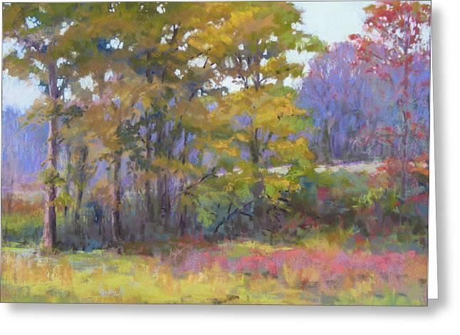 Pasture Pastels Greeting Cards - Fall Vision Greeting Card by Marsha Savage