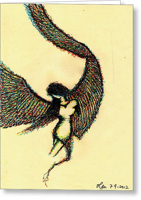 Fallen Angel Greeting Card by Len YewHeng