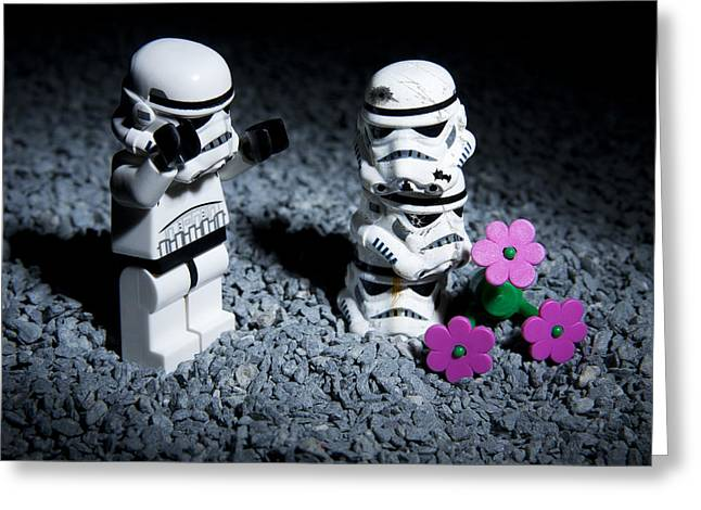 Lego Greeting Cards - Fallen Friends Greeting Card by Samuel Whitton