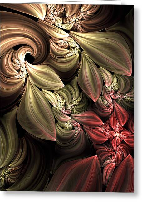 Youthful Digital Art Greeting Cards - Fallen From Grace Abstract Greeting Card by Georgiana Romanovna