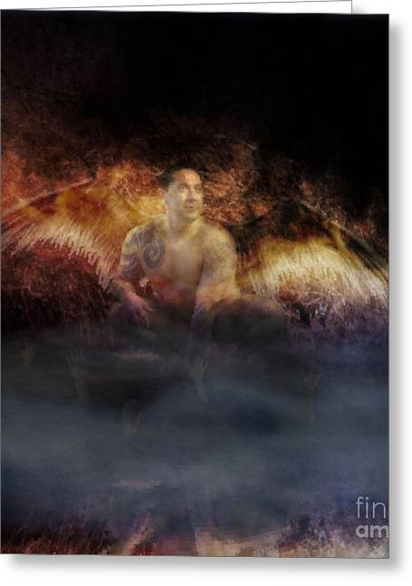Raunchy Greeting Cards - Fallen Greeting Card by KJ Bruce - Infinity Fusion Art