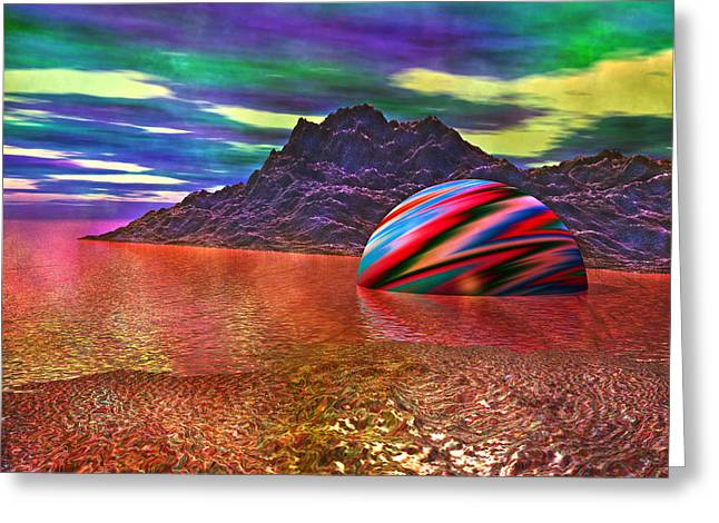 Light-years Greeting Cards - Fallen Planet Greeting Card by Betsy C  Knapp
