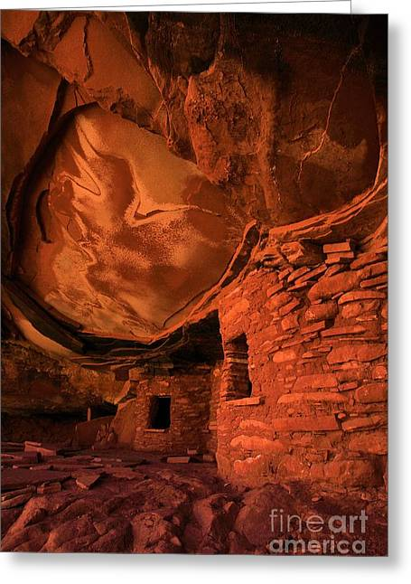 Ancient Ruins Greeting Cards - Fallen Roof Ruins Greeting Card by Adam Jewell