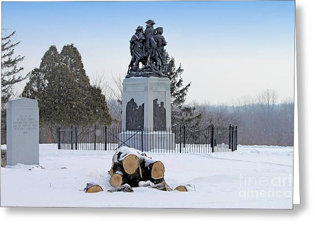 Little Wayne Greeting Cards - Fallen Timbers Monument  1454  Greeting Card by Jack Schultz
