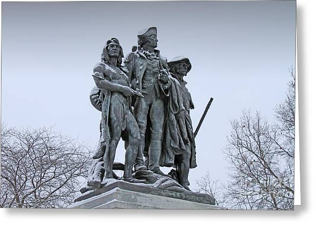 Little Wayne Greeting Cards - Fallen Timbers Monument  1888 Greeting Card by Jack Schultz