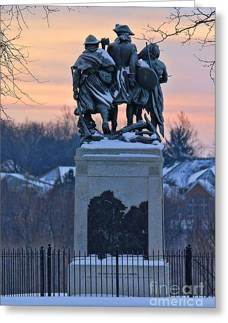 Little Wayne Greeting Cards - Fallen Timbers  Monument 7642 Greeting Card by Jack Schultz
