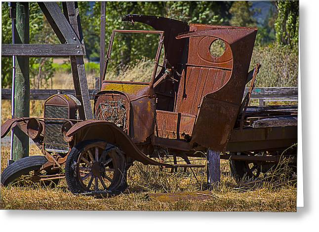 Rusty Pickup Truck Greeting Cards - Falling Apart Greeting Card by Garry Gay
