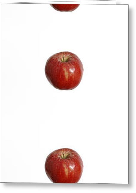 Stroboscopic Images Greeting Cards - Falling Apple Greeting Card by GIPhotoStock