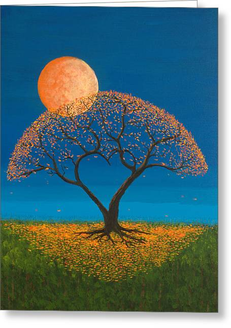 Full Moon Greeting Cards - Falling For You Greeting Card by Jerry McElroy