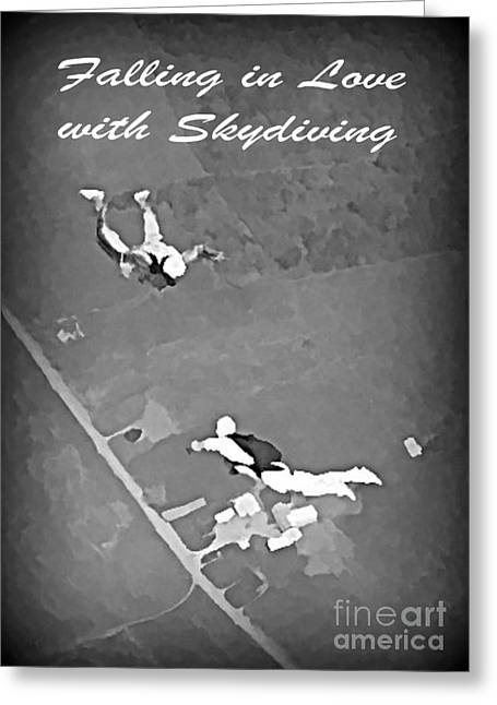 John Malone Artist Greeting Cards - Falling in Love with Skydiving Greeting Card by John Malone