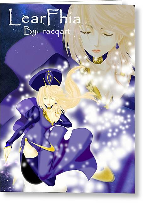 Racquel Delos Santos Greeting Cards - Falling Maiden Greeting Card by Racquel Delos Santos