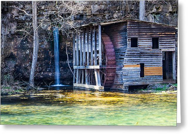 Falling Spring Mill Greeting Card by Steven Bateson