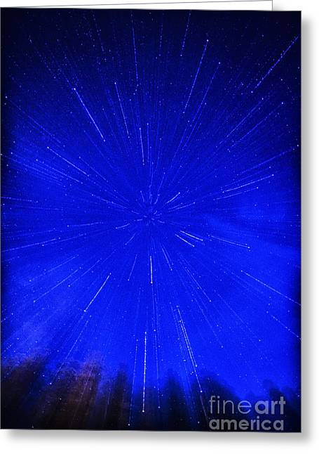Falling Stars Greeting Card by Thomas R Fletcher