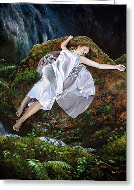 Nightgown Greeting Cards - Falling Greeting Card by Tim Davis