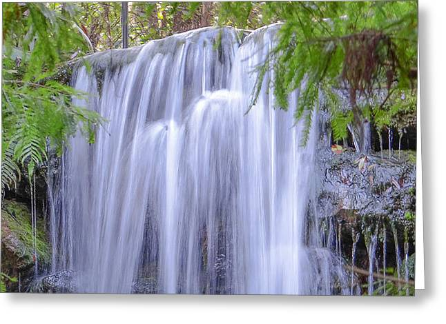 Autumn Photographs Mixed Media Greeting Cards - Falling Water Greeting Card by Dennis Dugan