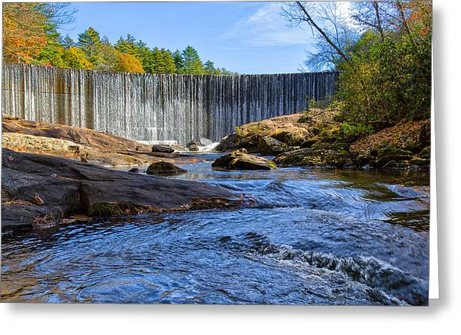 Scenic Drive Greeting Cards - Falling Water Greeting Card by John Bailey