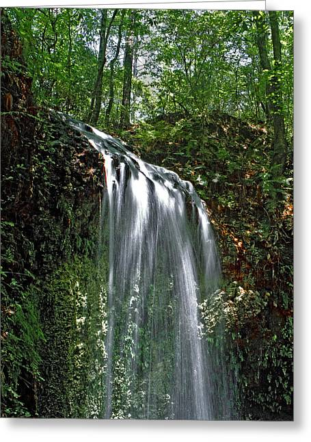 Chris Kusik Greeting Cards - Falling Waters. Falling Waters State Park. Greeting Card by Chris  Kusik