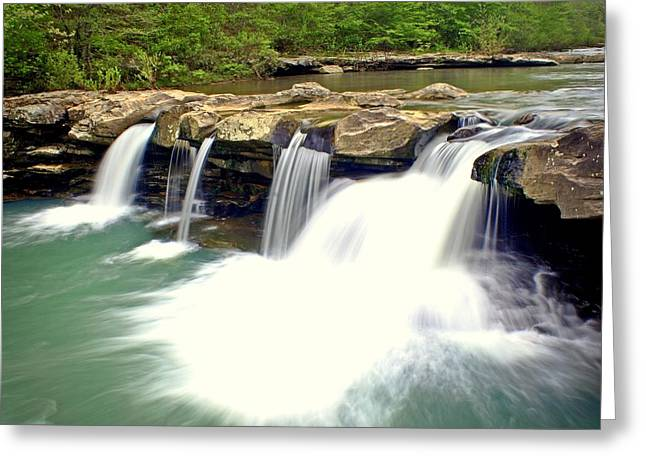 Falling Waters Falls 4 Greeting Card by Marty Koch