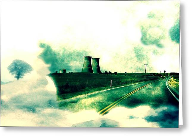 Power Plants Mixed Media Greeting Cards - Fallout Greeting Card by Lisa McKinney