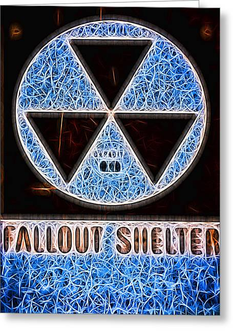 Geiger Counter Greeting Cards - Fallout Shelter Abstract 1 Greeting Card by Stephen Stookey