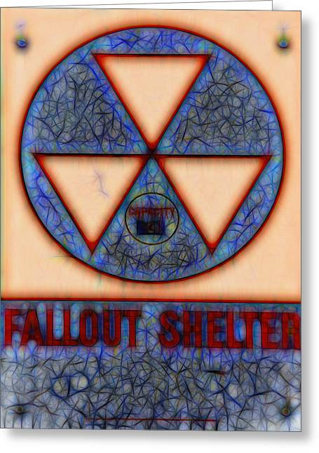Geiger Counter Greeting Cards - Fallout Shelter Abstract 10 Greeting Card by Stephen Stookey