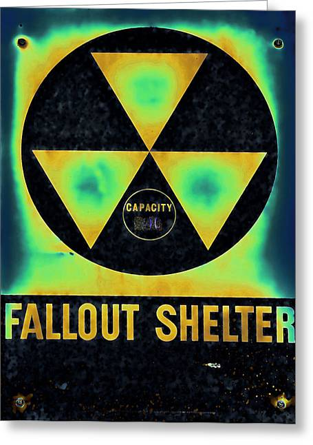 Nuclear Warfare Greeting Cards - Fallout Shelter Abstract 2 Greeting Card by Stephen Stookey