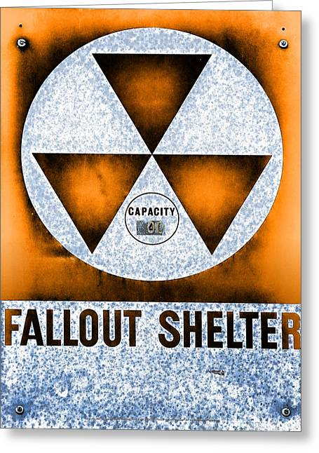 Geiger Counter Greeting Cards - Fallout Shelter Abstract 3 Greeting Card by Stephen Stookey
