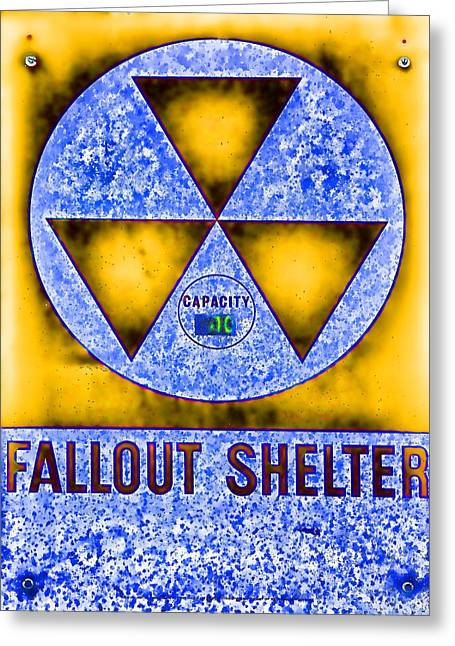 Geiger Counter Greeting Cards - Fallout Shelter Abstract 4 Greeting Card by Stephen Stookey