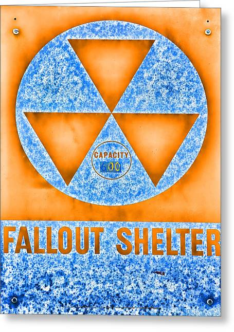 Geiger Counter Greeting Cards - Fallout Shelter Abstract 5 Greeting Card by Stephen Stookey