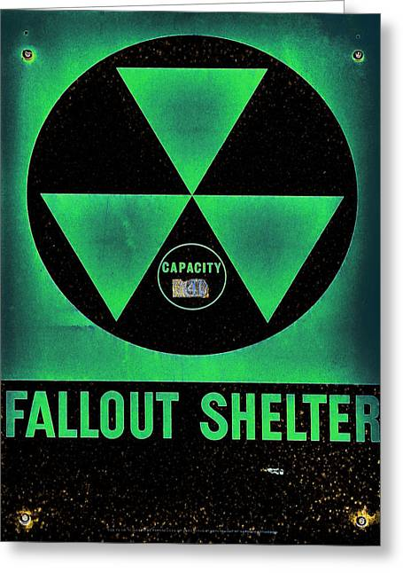 Geiger Counter Greeting Cards - Fallout Shelter Abstract 6 Greeting Card by Stephen Stookey