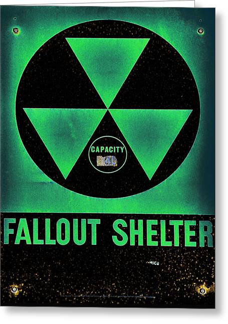 Radioactive Greeting Cards - Fallout Shelter Abstract 6 Greeting Card by Stephen Stookey