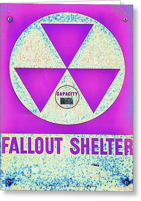Geiger Counter Greeting Cards - Fallout Shelter Abstract 7 Greeting Card by Stephen Stookey