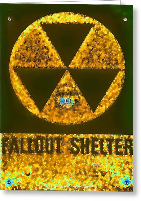 Geiger Counter Greeting Cards - Fallout Shelter Abstract 8 Greeting Card by Stephen Stookey