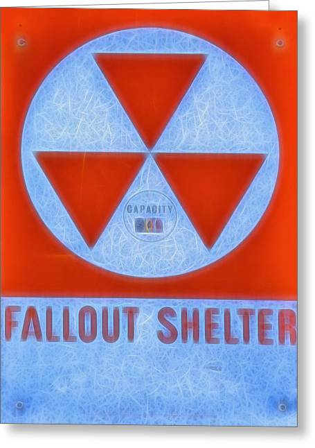 Nuclear Warfare Greeting Cards - Fallout Shelter Abstract 9 Greeting Card by Stephen Stookey