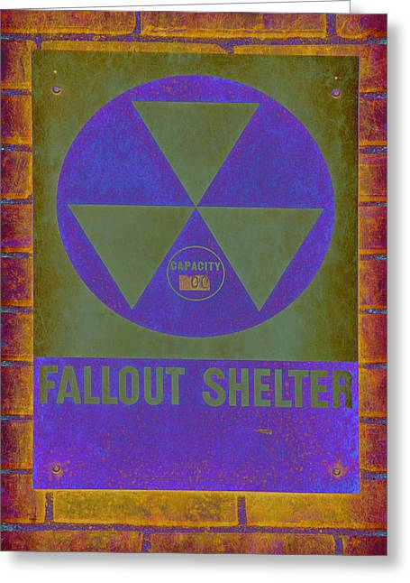 Geiger Counter Greeting Cards - Fallout Shelter Abstract Greeting Card by Stephen Stookey