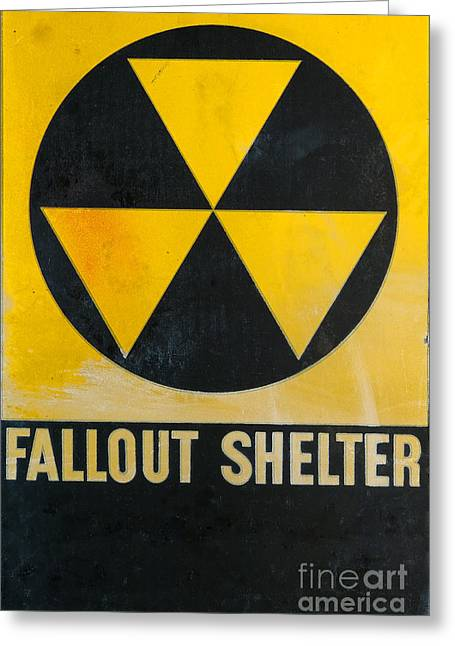 Refuges Greeting Cards - Fallout Shelter Greeting Card by Olivier Le Queinec