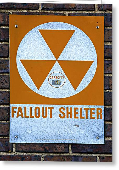 Geiger Counter Greeting Cards - Fallout Shelter Greeting Card by Stephen Stookey