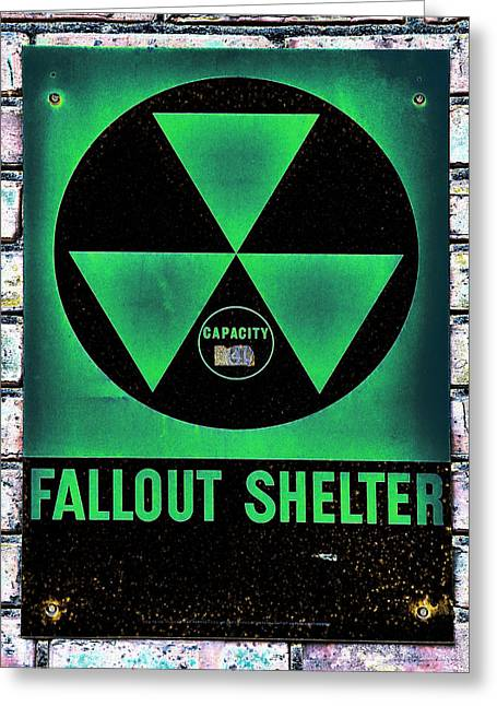 Geiger Counter Greeting Cards - Fallout Shelter Wall 1 Greeting Card by Stephen Stookey