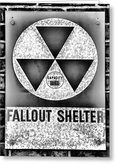 Nuclear Warfare Greeting Cards - Fallout Shelter Wall 10 Greeting Card by Stephen Stookey
