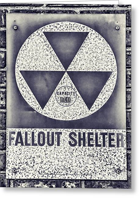 Geiger Counter Greeting Cards - Fallout Shelter Wall 2 Greeting Card by Stephen Stookey