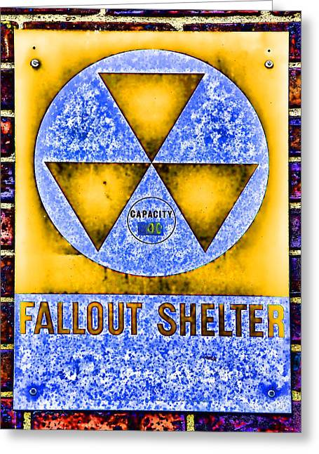 Nuclear Warfare Greeting Cards - Fallout Shelter Wall 3 Greeting Card by Stephen Stookey