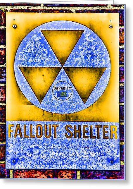 Radioactive Greeting Cards - Fallout Shelter Wall 3 Greeting Card by Stephen Stookey