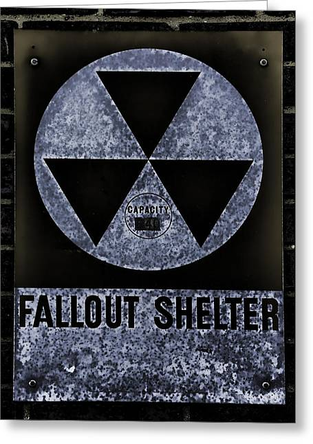 Geiger Counter Greeting Cards - Fallout Shelter Wall 5 Greeting Card by Stephen Stookey