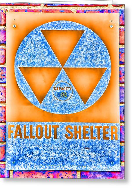 Geiger Counter Greeting Cards - Fallout Shelter Wall 7 Greeting Card by Stephen Stookey