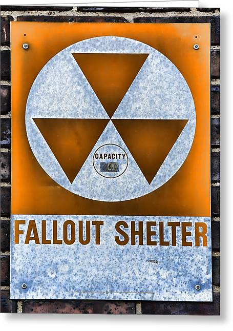 Nuclear Warfare Greeting Cards - Fallout Shelter Wall 8 Greeting Card by Stephen Stookey
