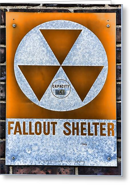 Radioactive Greeting Cards - Fallout Shelter Wall 8 Greeting Card by Stephen Stookey