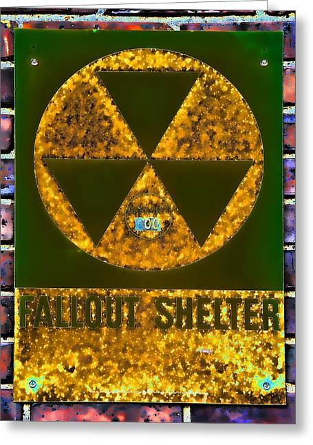 Geiger Counter Greeting Cards - Fallout Shelter Wall 9 Greeting Card by Stephen Stookey