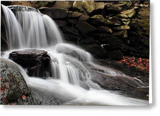 Peaceful Scene Greeting Cards - Falls at Melville Greeting Card by Andrew Pacheco